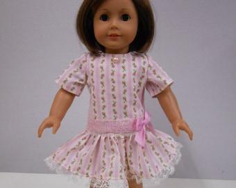 Pink Print Drop Waist Dress