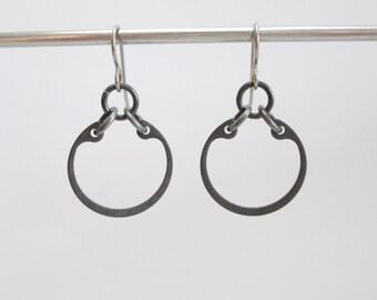Gunmetal Earrings, Industrial Metal Jewelry, Hardware Jewelry, Hypoallergenic Earrings, Edgy Earrings, Industrial Hardware Earrings