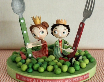 The Prince and Princess pea, OOAK dolls