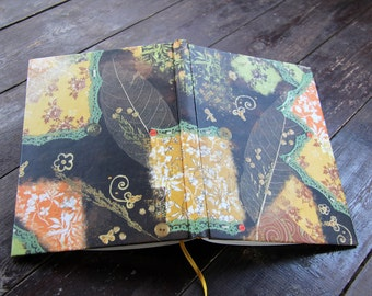 "Hand bound notebook, journal, diary, patchwork journal diary for all of the beautiful: ""Devotion"""