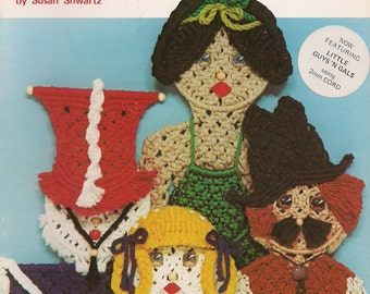 Vintage Macrame Guys 'N Gals No.2 Pattern Book Including Skeleton Cowboy Ballerina and More