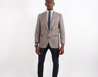 80s Yves Saint Laurent Blazer - Designer Tweed Blazer - Designer Vintage - 2234