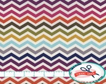 OMBRE CHEVRON Fabric by the Yard, Fat Quarter Pink Navy & Gray Chevron Fabric Quilting Fabric 100% Cotton Fabric Apparel Fabric a3-33
