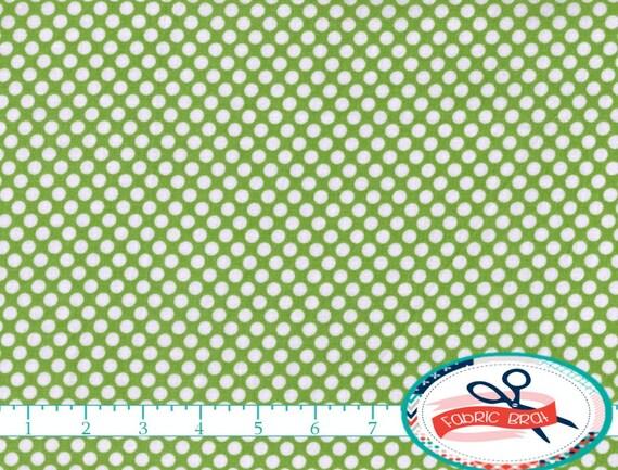 SAGE GREEN Fabric By The Yard Fat Quarter Green Polka Dot