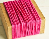 Thick Cotton Twine in Bright Pink - 10 Yards - Packaging Gift Wrapping String Cord Trim Ribbon Pretty Vintage Party Crafting Supply Decor