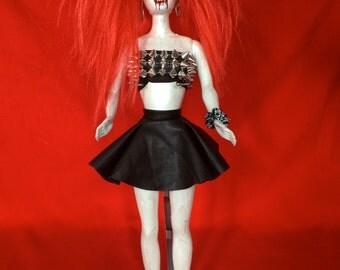Anne Destructible is a OOAK vampire baby art doll