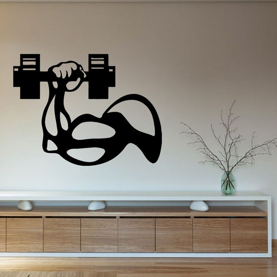 Gym Wall Design: Items Similar To Wall Decals Sport People Bodybuilder Man