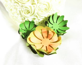 Paper Succulents, Cake Topper, Wedding Cake Topper, Paper Flower Topper, Green Paper Flowers, Succulent Topper, Cake Flower Topper