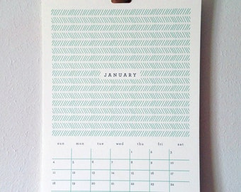 Wall Calendar, Large – Patterns