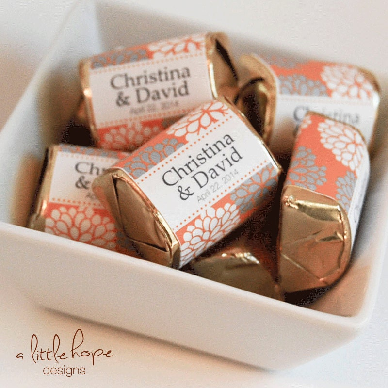 Wedding Hershey Nugget Labels / Nugget Wrappers / Candy