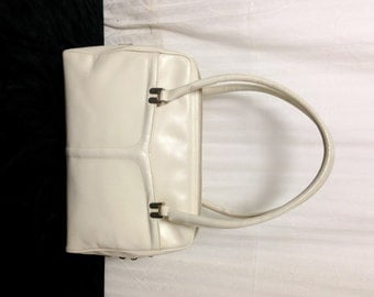 Morris Moskowitz,off white Leather Handbag, Purse ,bag