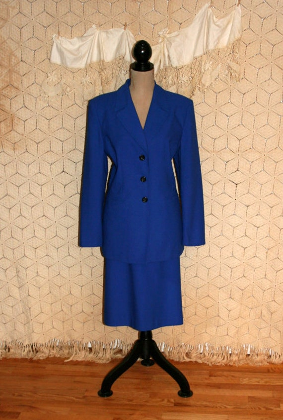 royal blue skirt suit suit fitted blazer skirt