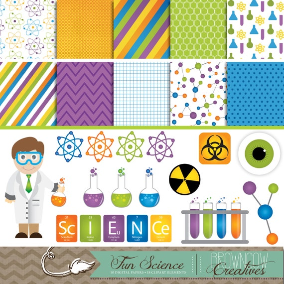 Science Clipart & Digital Papers