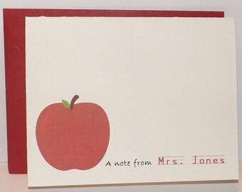 Teacher Stationary - Teacher Note Card - Teacher Christmas - Set of 10