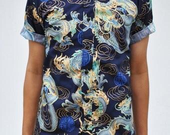 Dragons Short Sleeve Button-Up Shirt