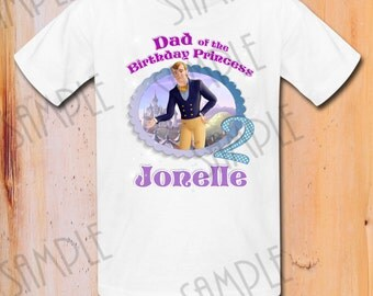 T-shirt Disney Sofia the First Iron On Transfer Printable Dad the Birthday Girl digital download Customizable Sofia Birthday Party Shirt