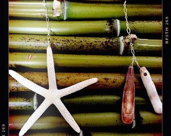 Starfish and Sea Urchin Spine Earrings