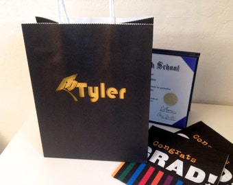 Custom Graduation Gift Bag - Laser Cut
