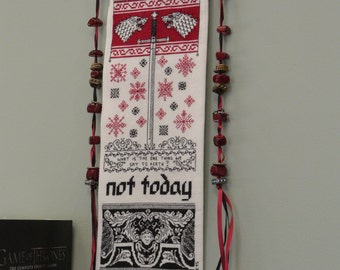 Not Today - GoT Inspired Cross Stitch Bell Pull Pattern
