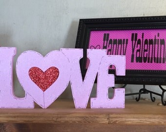 """Wooden Valentine's Day """"Love"""" sign"""