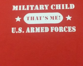 Military Child T-shirt Sporting a Sewn-On Super Hero Cape Size Youth Medium