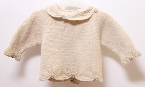 Baby Vest Knitting Instructions in French PDF Instant download Size Newborn - 3 months