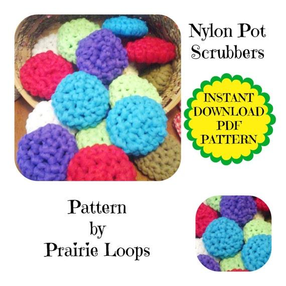Crochet Patterns Making Dish Scrubbers : Crochet PATTERN, Instant Download, POT SCRUBBERS, Kitchen scrubby ...