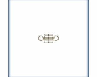 Sterling Silver Magnetic Clasp, Magnetic Clasp, 6 CLASPS,  4mm Magnetic Clasp, 4mm silver clasp, Wholesale Findings