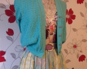 80s KNITTED CARDIGAN. approx size 8.