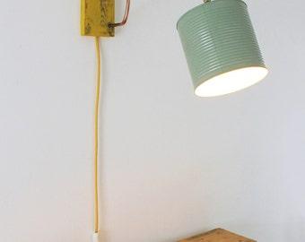 Lampada da parete in rame e legno applique murale lampada in for Applique da parete legno