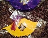 Lsu ornaments- lsu eye of the tiger- crab shell ornaments-nola ornaments- cajun christmas-purple and gold lsu-fleur de lis - tiger