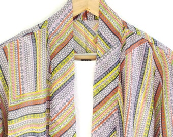 Picasso - Short Kimono Jacket / Cover Up - Colorful Modern Geometric Patterns