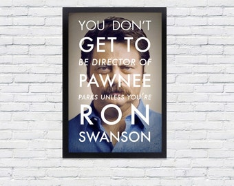 Ron Swanson Poster / Parks and Recreation Print / Social Network Parody
