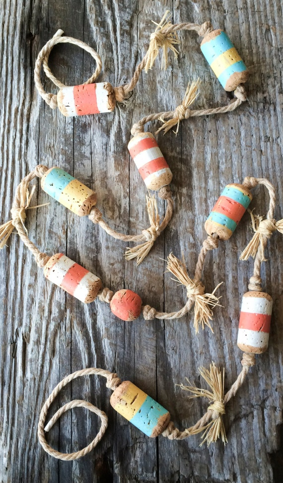 Maritime Decor: Nautical Decor Beach Decor Fishing Theme Colorful Striped