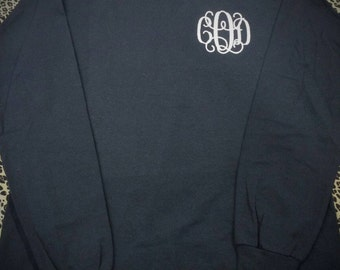 Youth Long Sleeve Monogram Tee