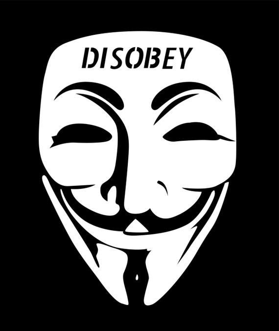 Items similar to V for Vendetta Anonymous Mask Disobey ...