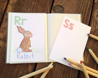 Instant Download- DIY Alphabet Book. Baby Shower Activity Game. Baby Book. Do It Yourself ABC Cards. Book Baby Shower Activity Download.