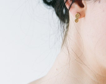 Clef // Stud Earrings With A Textured Finish