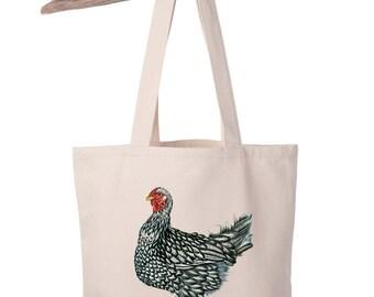 Organic Cotton Canvas Chicken Totebag