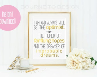 INSTANT DOWNLOAD,inspirational Print, typography quote, wall decor, print at home, doctor who quote, printable quote, quote print art