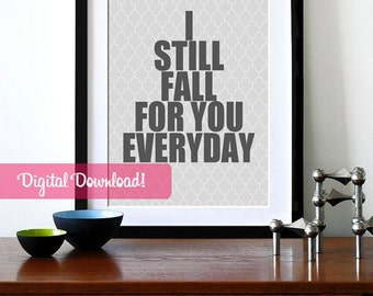 anniversary quote, romantic quote gift, printable love quote, anniversary print, love spouse gift, digital art print, bedroom wall decor