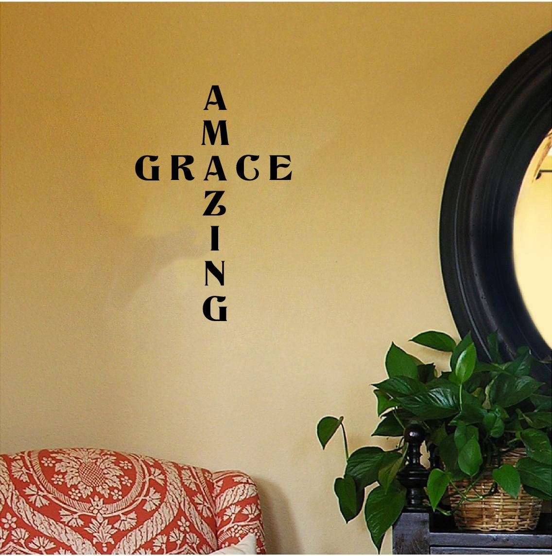Amazing Grace (in the shape of a cross) Religious/Spiritual Wall ...