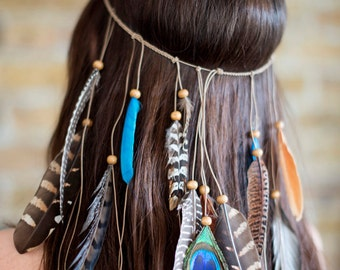 Boho Festival Feather Headpiece
