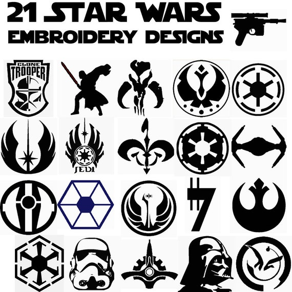 21 star wars insignia machine embroidery patterns applique. Black Bedroom Furniture Sets. Home Design Ideas