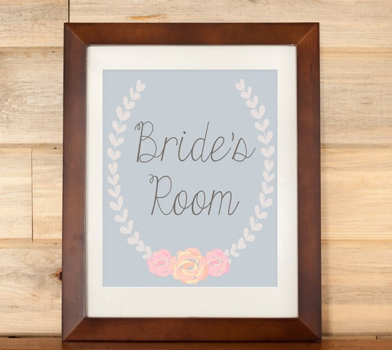 Wedding Sign Dressing Room Sign For Bride By DaintyPress
