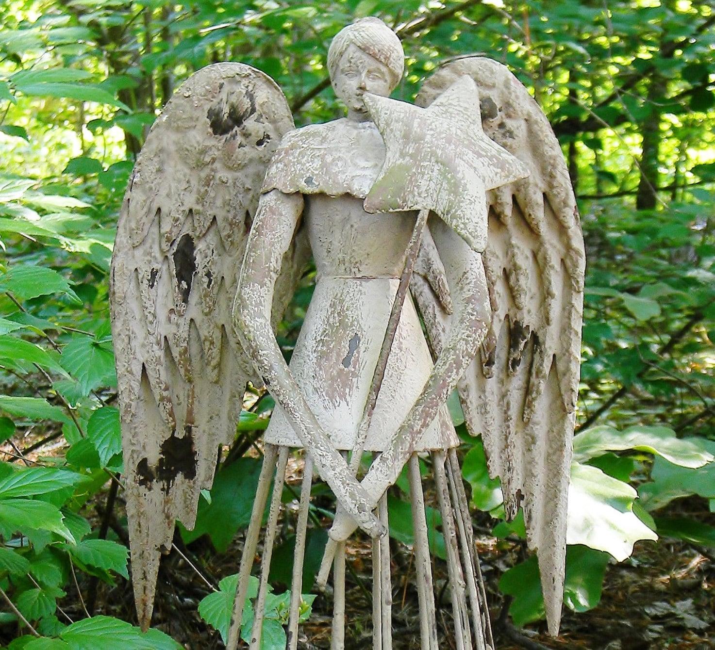 Garden angel garden statue angel statue by colorfulcastandcrew - Angel statue for garden ...