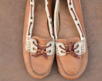 Sebago leather deck shoes mocassin - 90s for women