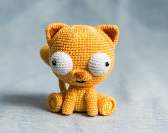 "Crochet Pattern of Cat Martin from ""AradiyaToys Design"" (Amigurumi tutorial PDF file)"