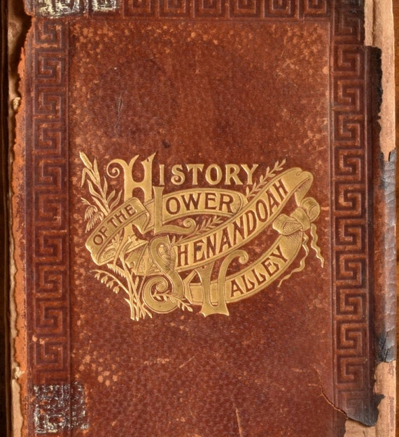 History Of Art Book Cover ~ Antique leather book cover history of the lower shenandoah
