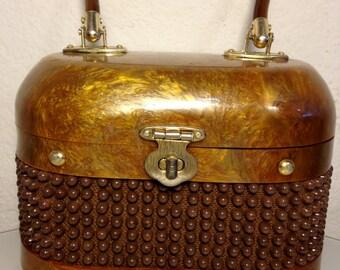 FREE  SHIPPING    1950 Lucite  Handbag